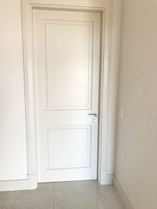 White flat bold internal door